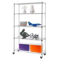 Wholesale H175 Chrome Plating  Display Shelf Floor Standing Display Unit Easy To Install Mobile Rack with 4pcs Casters from china suppliers