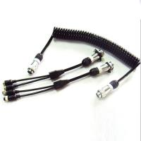 Wholesale 5 Pin PU Coiled Trailer Cable , Spiral Electrical Cable For Back Rear Camera from china suppliers