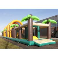 Wholesale 35m Jungle Obstacle Course Theme Inflatable Floating Obstacle Course With Flame Retardant from china suppliers