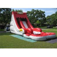 Wholesale Charming Colorful Fire Resistant Inflatable Water Slip and Slide With Pool from china suppliers