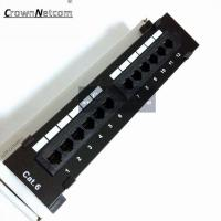 Wholesale RJ45 Ethernet Cat6 12Port Patch Panel Cat6 UTP Wall Mount 12Port Patch panel Category 6 Patch Panels from china suppliers