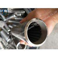 Wholesale Bleved Welding Ring V Wire Wrap Screen Pipe / Water Well Screen For Sand Control from china suppliers