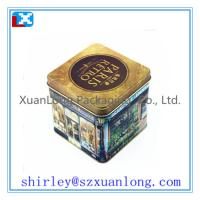 Wholesale Square Metal Tea Tin Box Container from china suppliers