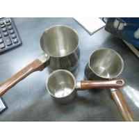 Wholesale stainless steel milk pot with wooden handle from china suppliers