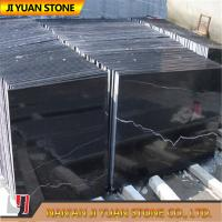 Black White Marble Stone Nero Marquina Marble Tiles Slab For Wall Panel Paving Floors for sale