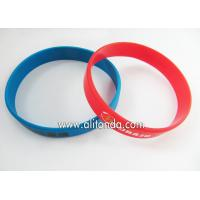 Custom silicone sport wrist band can add logo words with existing mold for sale