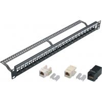 Wholesale 24 Port Blank Keystone Network Patch Panel with Cable Manager Wall Mount YH4018 from china suppliers