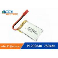 Wholesale rc helicopter battery 3.7v 902540 li polymer battery 750mah 25C high rate battery pl902530 from china suppliers