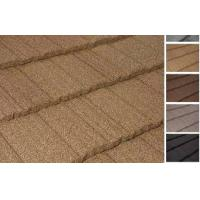 Wholesale Flat Stone Chip Coated Steel Roof Tiles from china suppliers