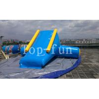 U / V Shape 0.9mm PVC Tarpaulin Inflatable Big Air Slide For Water Yelow / Blue