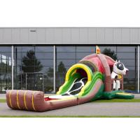 Wholesale Logo Printing Outdoor Inflatable Combo Farm Cow With Slide For Event from china suppliers