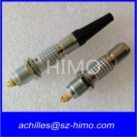 electronic 0B 1B 2B 3B lemo 4 pin male and female connector with bend relief for sale