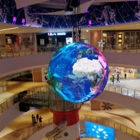 Buy cheap Magic Show 3D spherical led display 360 degree led video sphere For Museum from wholesalers