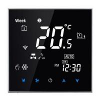 Wholesale Touch screen WIFI app control room thermostat -Nero Specchio Design DKT-S200 for under floor heating from china suppliers