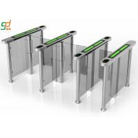 Wholesale PVC Arm Supermarket Swing Gate , RFID Servo Motor Glass Turnstiles System from china suppliers