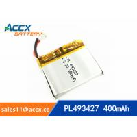 Wholesale 493427 pl493427 3.7v li-ion polymer battery with full capacity 400mAh for dada recorder, led light, digital products from china suppliers