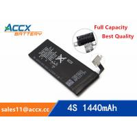 Quality ACCX brand new high quality li-polymer internal mobile phone battery for IPhone 4S with high capacity of 1450mAh 3.7V for sale