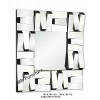 China Square Stella 3D Wall Mirror For Hotel / Home Beveled Edge Mirror on sale