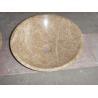 Light Emperador Marble Bath Round Sink Stone Wash Basin for sale