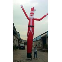 Wholesale Christmas Santa Claus Inflatable Air Dancer , Oxford Cloth Christmas Dancer Single Leg from china suppliers