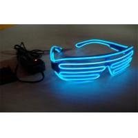 China Plastic Shutter Frame Blue EL Wire Sunglasses For Dancing Party / EL Wire Glasses on sale