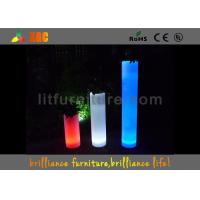 Wholesale Square Flower Pots LED Pillar With Colorful Planter For Indoor Or Outdoor from china suppliers