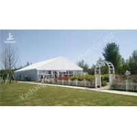 Wholesale Gorgeous Transparent Glass Outdoor Party Tents , 850gSqm PVC Fabric 20x30 Tent from china suppliers