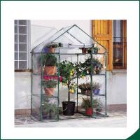 Wholesale Agricultural Plastic Hot Houses Foldable Greenhouse With Film Or Plastic Sheet 6x8x6.6 Plant Growth Powder coated from china suppliers