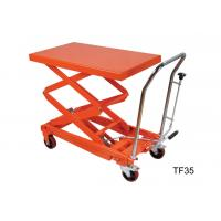 Buy cheap Four Wheel Heavy Duty Hydraulic Lift Table Platform For Warehouse Material Carrying from wholesalers