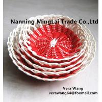 China Hand weaving Rattan eco-friendly fruit and snack basket for sale
