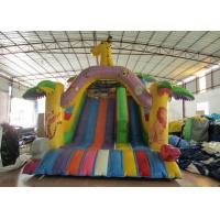Giraffe arch inflatable standard dry slide animals zoo park inflatable standard slide for children for sale