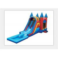 Quality Safety 0.55mm PVC Outdoor Inflatable Bouncy Castle Water Slide For Kids for sale
