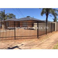 Wholesale Commercial Zinc Steel Fence , Ornamental Galvanized Steel Tube Fence Panels from china suppliers