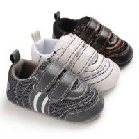 Wholesale Hot sale PU Leather soft bottom casual boyoutdoor sneaker mesh baby shoes from china suppliers