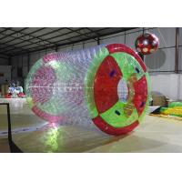 Durable 0.8mm PVC Water Sport Toys / Inflatable Water Roller For Amusement Water
