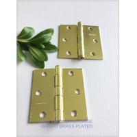Yellow Color Ball Tip Hinges , Heavy Duty Flush Mount Hinges Highly Polished for sale