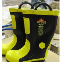 Wholesale Firefighting Unit Rubber Fireman Safety Boot With Steel Cap And Sole from china suppliers