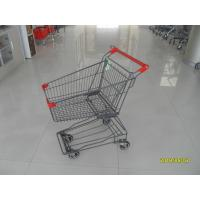 Wholesale 45L Red Plastic Wire Shopping Trolley Supermarket Shopping Cart For Popular Small Shop from china suppliers