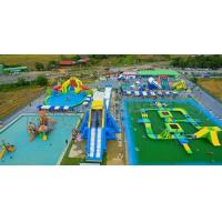 Wholesale Outdoor Adults Giant Inflatable Water Parks , Floating Playgrounds Customized Logo from china suppliers