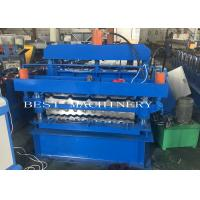 China IBR Corrugated Roof Panel Tile Roll Forming Machine , Roof Sheet Making Machine on sale