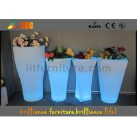 Wholesale Fashionable LED Flower Pot / Vase With Led Lights 16 Colors Changeable from china suppliers