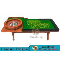 Wooden Collapsible Casino Card Table With Flame Retardant Tablecloth