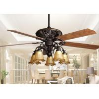 China Retro Ceiling Fan Light Fixtures , Home Decorative Rustic Ceiling Fans With Lights on sale
