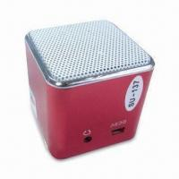 Wholesale Novelty Mini Speaker, Made of Aluminum Alloy Housing with FM Radio, 80 to 18kHz Frequency Response from china suppliers