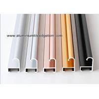 China Metal Modern Type Aluminium Picture Frame Mouldings With Narrow Curved Shape for sale