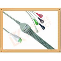 Wholesale Copper Kontron ECG Patient Cable 12 Pin 5 Leads Aluminum Foils Shielding from china suppliers