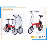 China Red / White Small Folding Electric Bicycle 20 × 4.0 Slide Proof Tyres on sale