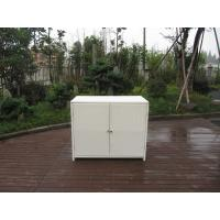 Wholesale Resin Wicker Storage Box , Aluminum Frame White Rattan Cabinet from china suppliers