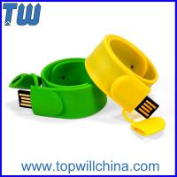 Buy cheap Silicone Wristband 2GB USB Flash Drive Children's Day Gift Logo Printing from Wholesalers