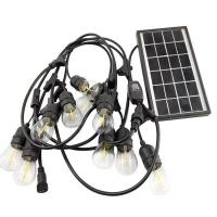 China Party Festival Solar Powered String Lights E27 Socket Solar Panel  Warm White on sale